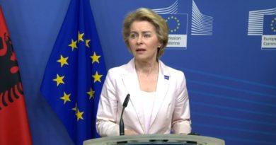 1.15 mld euro për Shqipërinë, Presidentja e KE: Do bëjmë marrëveshje për transparencën (Video)
